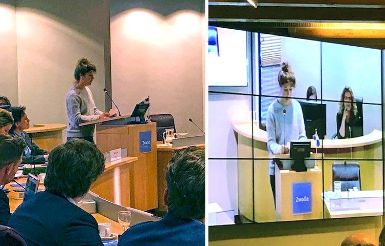 Job Jonkman spreekt voor de gemeenteraad van Zwolle