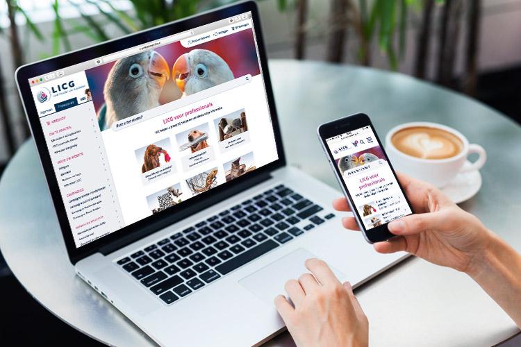 LICG vernieuwde website voor huisdierprofessional