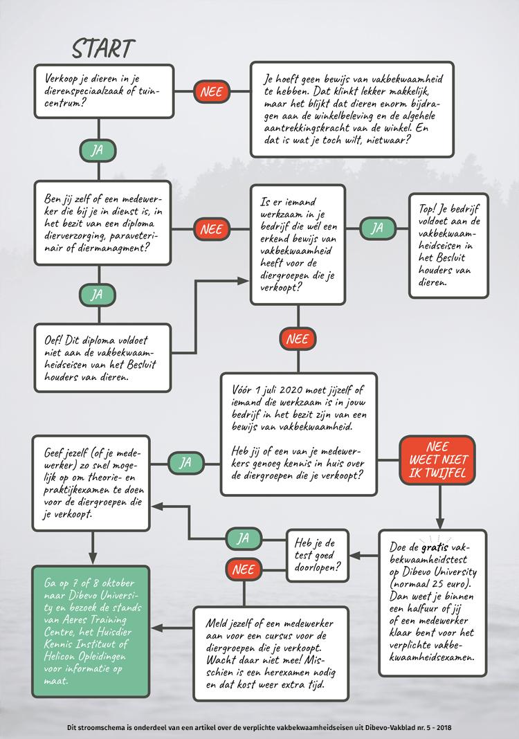 Stroomdiagram verplichte vakbekwaamheid
