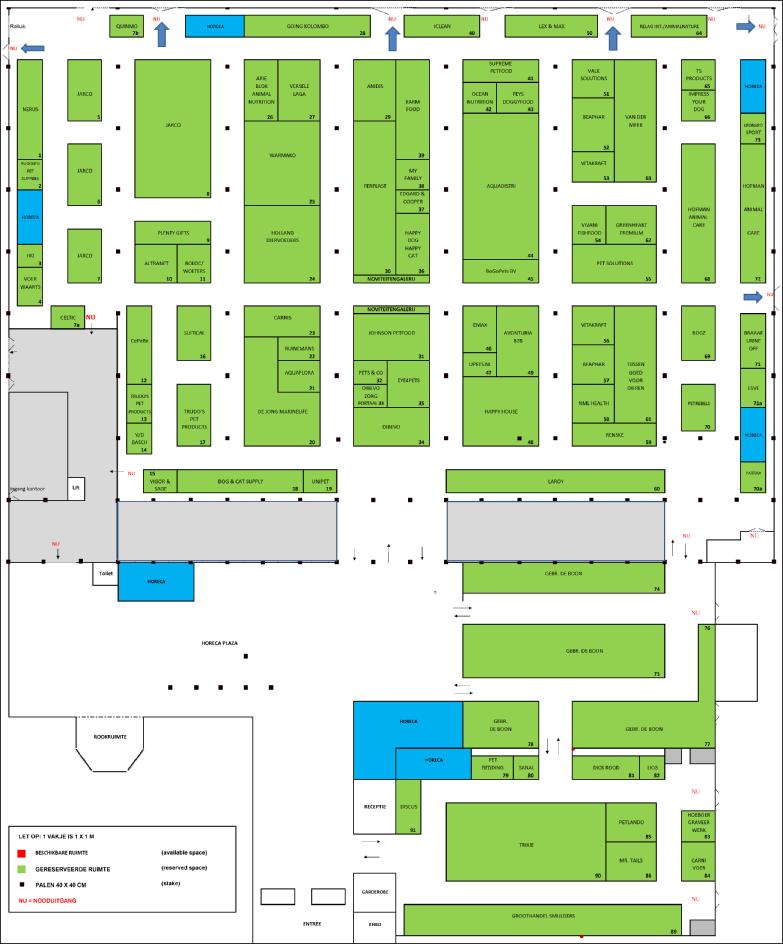 Actuele plattergrond van de Dibevo-Vakbeurs 2017