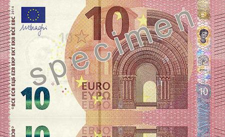 Biljet van 10 euro bij de introductie