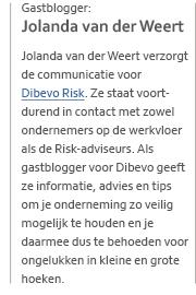 Jolanda van der Weert - Dibevo Risk