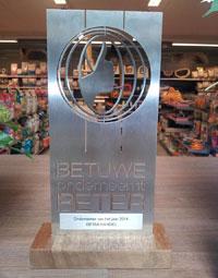 Henrika Quik ondernemer van het jaar 2014 tijdens Betuwe Onderneemt Beter verkiezing