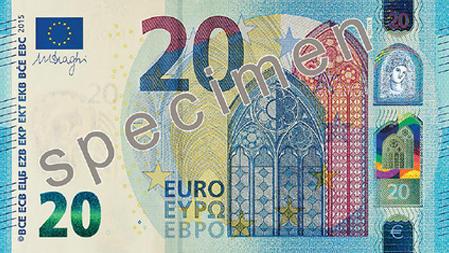 Nieuw biljet van twintig euro