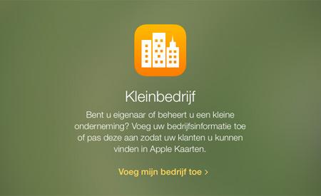 Apple Maps - toevoegen van je onderneming