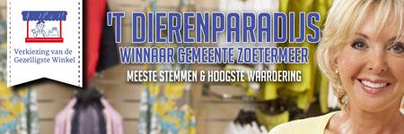 't Dierenparadijs verkozen tot de gezelligste winkel van Zoetermeer