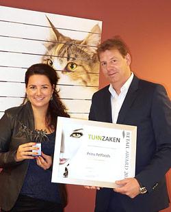 Prins Petfoods wint Tuinzaken Retail Award