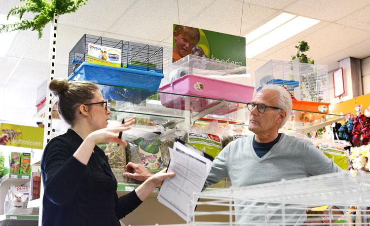 Marian Bekkers actief met haar Winkelscan