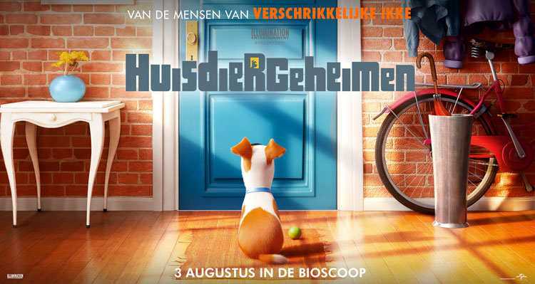 'The Secret Life of Pets' (Huisdiergeheimen) 3 augustus in de bioscoop