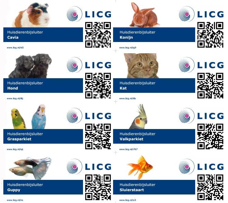 Huisdierenbijsluiter van LICG