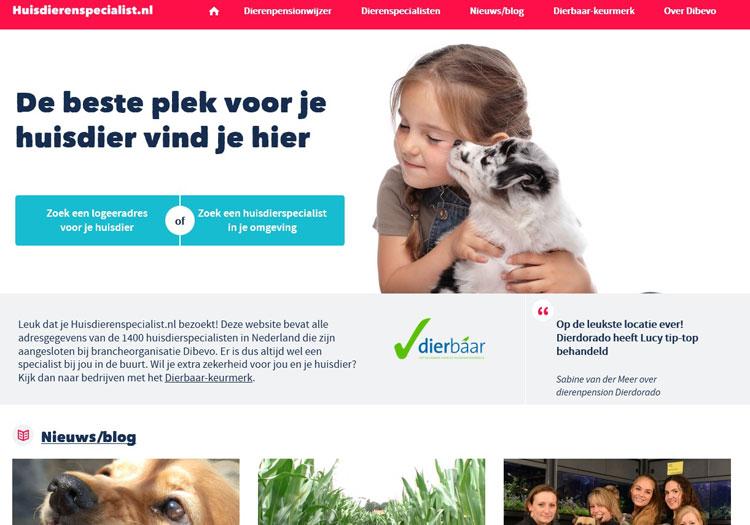 Huisdierenspecialist is de consumentenwebsite van Dibevo