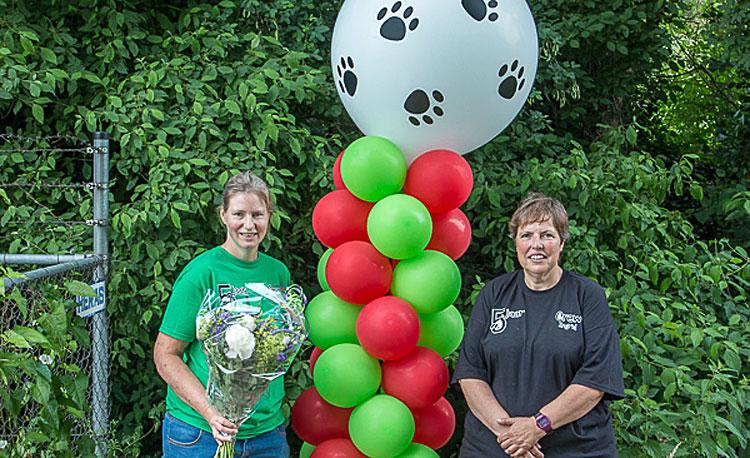 Ballonnen bij het 5 jarige jubileum van Olijke Vriendjes