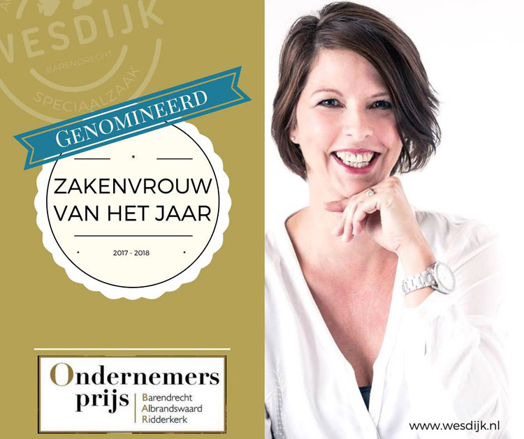Liesbeth maakt kans op Vizi zakenvrouw van het Jaar