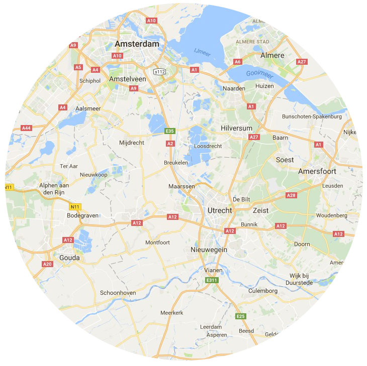 50 km-straal rond Maarssen