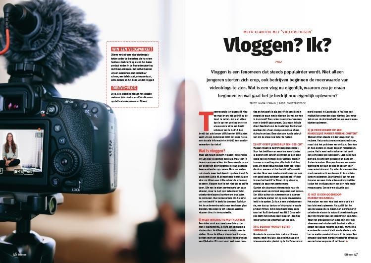 Vloggen? Ik? Artikel uit Dibevo-Vakblad nummer 5 - 2017
