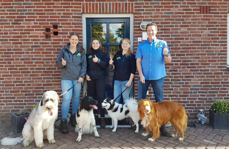 Team van Dierenvakantieboerderij 'de Lofert'