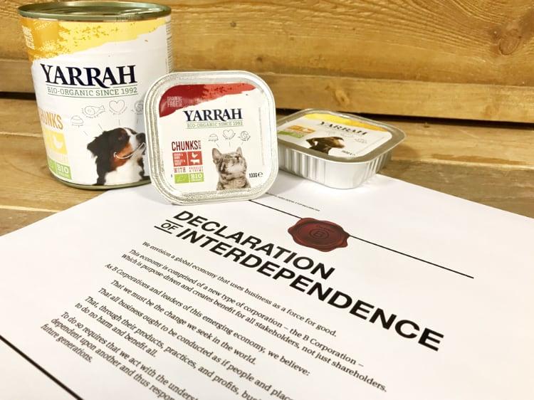Yarrah ontvangt BCorp certificaat