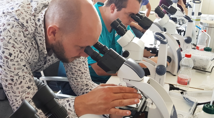 eSHa workshop microscoop en visziekten