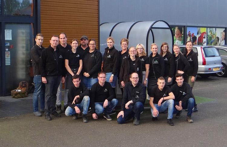 Het team van Van der Poel Dier en Verblijf
