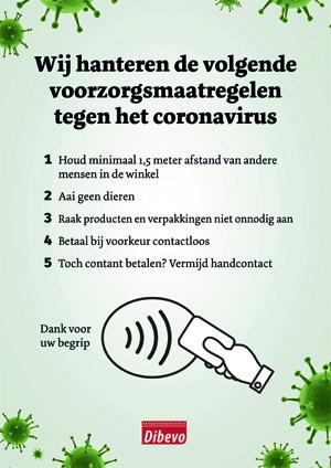 Poster voorzorgsmaatregelen corona
