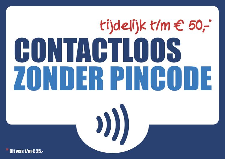 Contactloos betalen - limiet naar 50 euro