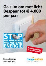 Brochure met besparingstips voor verlichting
