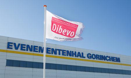 Dibevo-vlag bij Evenementenhal Gorinchem