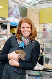 Peggy Leurs van Tuincentrum Leurs, het Beste leerbedrijf van 2010
